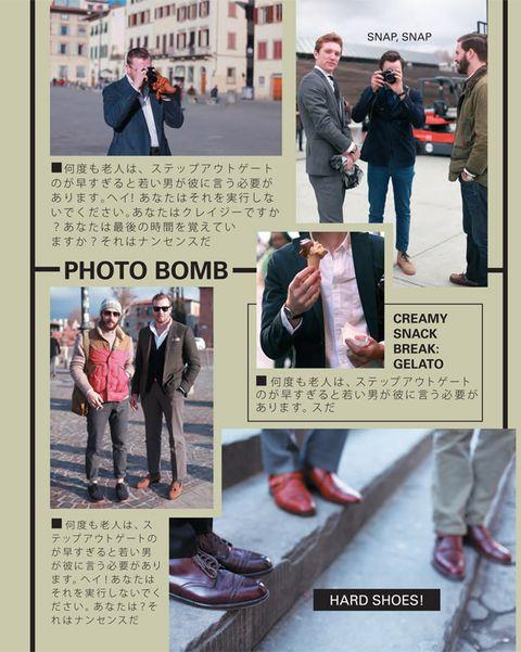 Trousers, Textile, Coat, Photograph, Outerwear, Street fashion, Pattern, Jacket, Fashion, Denim,