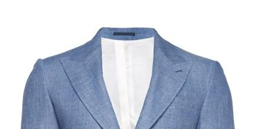 Clothing, Blue, Coat, Product, Collar, Sleeve, Textile, Outerwear, Style, Formal wear,
