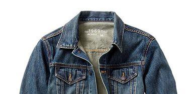 Clothing, Blue, Product, Collar, Sleeve, Jacket, Textile, Outerwear, White, Denim,