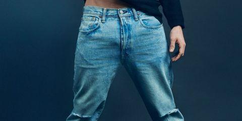 Denim, Jeans, Clothing, Pocket, Blue, Textile, Waist, Joint, Standing, Leg,