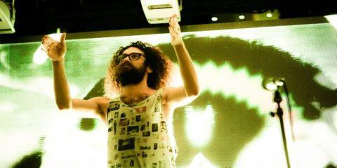 Rejoicing, Beard, Facial hair, Gesture, Active tank,