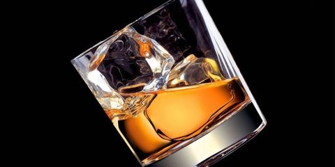 Ice cube, Drink, Whisky, Old fashioned glass, Distilled beverage, Scotch whisky, Alcohol, Fashion accessory, Blended whiskey, Gemstone,