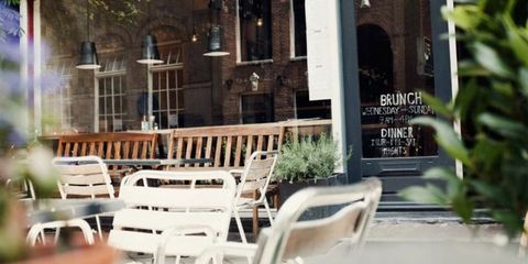 Property, Furniture, Chair, Real estate, Outdoor furniture, Door, Porch, Restaurant, Outdoor table, Inn,