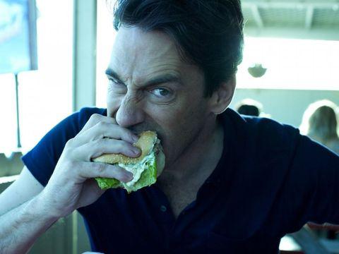 Plate, Eating, Food craving, Food, Jaw, Taste, Cuisine, Staple food, Biting, Leaf vegetable,
