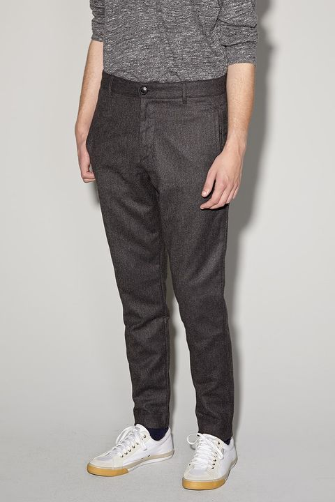 Clothing, Product, Brown, Trousers, Pocket, Denim, Textile, Standing, Joint, White,