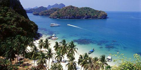Body of water, Coastal and oceanic landforms, Coast, Watercraft, Water, Boat, Sea, Tourism, Beach, Ocean,