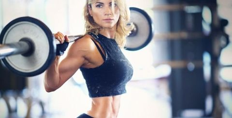 Physical fitness, Shoulder, Muscle, Arm, Fitness professional, Weight training, Leg, Exercise equipment, Room, Abdomen,