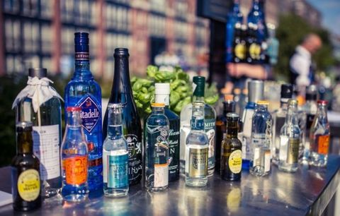 Alcoholic beverage, Drink, Alcohol, Distilled beverage, Liqueur, Bottle, Glass bottle, Vodka, Bar, Liquor store,