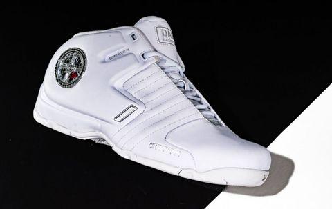 <p><strong>Jaar:</strong> 2001</p><p>Gemaakt als kenmerkende schoen voor Latrell Sprewell, deze Dada's namen inspiratie uit automaatwerk net iets te serieus. Met innovatie in gedachte (denken we) brachten ze een vaak aangepast onderdeel van de auto, de velg, en plaatsten dit op de schoen. </p><p>Met iedere stap die je neemt, beweegt de neppe velg door de luchtdruk dat wordt opgebouwd in de zool. Niet alleen de velg is een misdaad, de rest van de schoen laat ook te wensen over. </p>