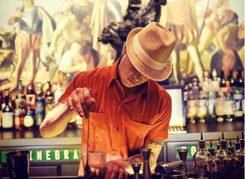 Hat, Alcohol, Barware, Bottle, Drink, Alcoholic beverage, Sun hat, Glass bottle, Pub, Distilled beverage,