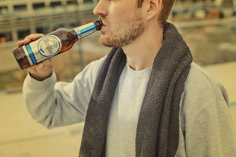 Water, Drink, Facial hair, Alcohol, Beard, Drinking, Bottle,