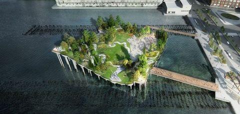 """<p>Er zijn allerlei concepten bedacht waarbij kunstmatige eilanden rondom Manhattan als de beste optie worden gezien, om&nbsp;meerdere redenen. </p><p>Sommigen willen meer ruimte voor parken, andere groene gebieden en zelfs zwembaden. Anderen willen de stad beschermen tegen stormen en zelfs getijdenenergie bemachtigen voor in mindere tijden.&nbsp;</p><p>Het eerste plan dat zal worden uitgevoerd is het Pier55-project. Dit is een drijvend eiland tussen pieren 54 en 56 aan de westzijde van Manhatten. Het zal fungeren als openbaar park met grasvelden, paden en ruimte voor buurtactiviteiten.&nbsp;</p><p><span class=""""redactor-invisible-space"""" data-verified=""""redactor"""" data-redactor-tag=""""span"""" data-redactor-class=""""redactor-invisible-space""""></span></p>"""