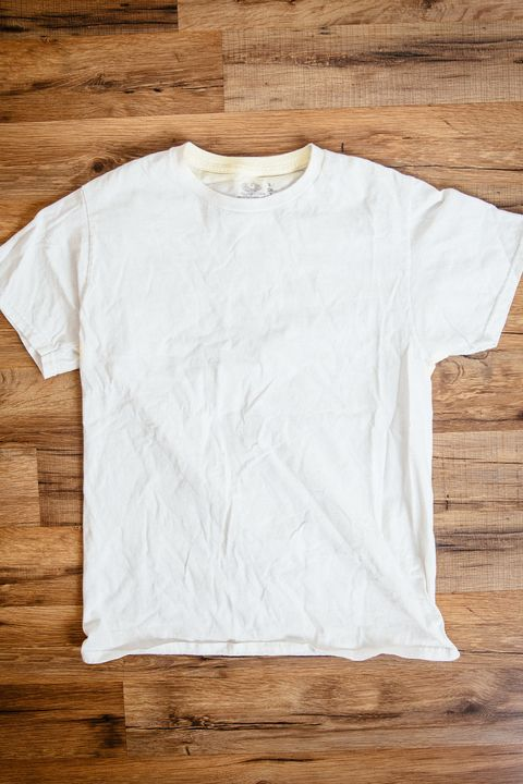"""<p>""""Every guy seems to have a pile of white T-shirts that aren't so, well, white. From pit-stains to BBQ sauce and everything in between, my clothes take a beating, but the white t-shirts seem to get it the worst. While I won't stop spilling on myself anytime soon, I did finally pick up a deodorant, <a href=""""http://bit.ly/2gyMPGC"""" target=""""_blank"""" data-tracking-id=""""recirc-text-link"""">Dove Invisible Antiperspirant</a>, that prevents the yellow circles under my arms and saves my favorite shirts. Now all can take issue with are the well-earned food battle scars on my clothes.""""</p>"""