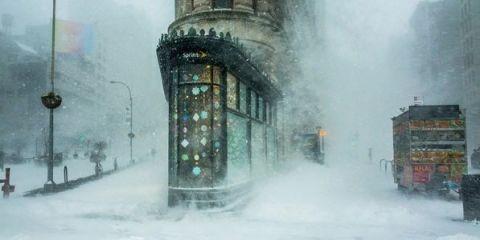 Winter, Architecture, Atmospheric phenomenon, Freezing, Landmark, Snow, Art, Arch, Paint, Painting,