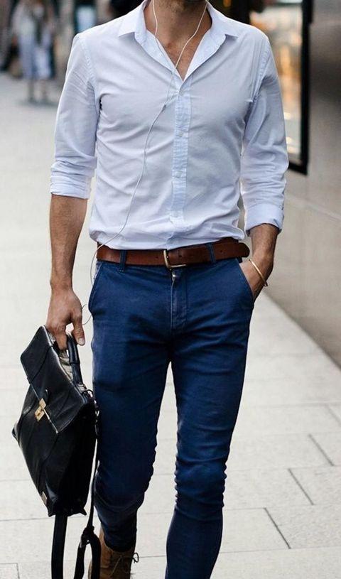 Clothing, Product, Brown, Dress shirt, Collar, Sleeve, Trousers, Denim, Shoulder, Pocket,