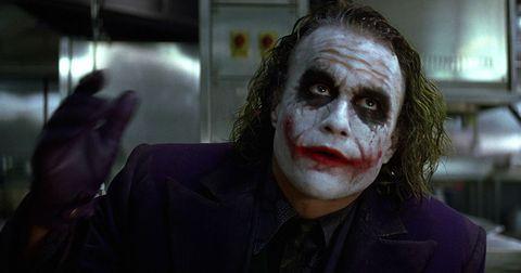 Forehead, Jaw, Zombie, Fictional character, Joker, Costume, Fiction, Flesh, Supervillain, Disfigurement,