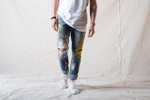 Jeans, Denim, White, Clothing, Fashion, Waist, Leg, Trousers, Leggings, Textile,
