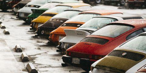 Motor vehicle, Vehicle, Mode of transport, Transport, Traffic congestion, Traffic, Car, Parking lot, Parking, Public space,