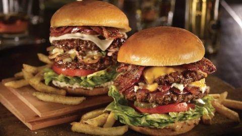 Hamburger, Junk food, Food, Dish, Buffalo burger, Fast food, Cuisine, Veggie burger, Burger king premium burgers, Cheeseburger,