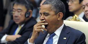 Barack Obama, vermoeid, moe