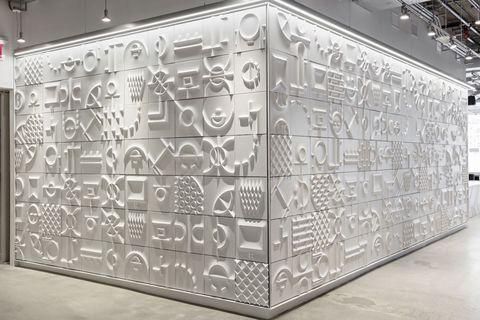 Wall, Glass, Metal,