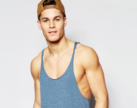 Clothing, Undershirt, Shoulder, Sleeveless shirt, Joint, Elbow, Active tank, Chest, Muscle, Neck,