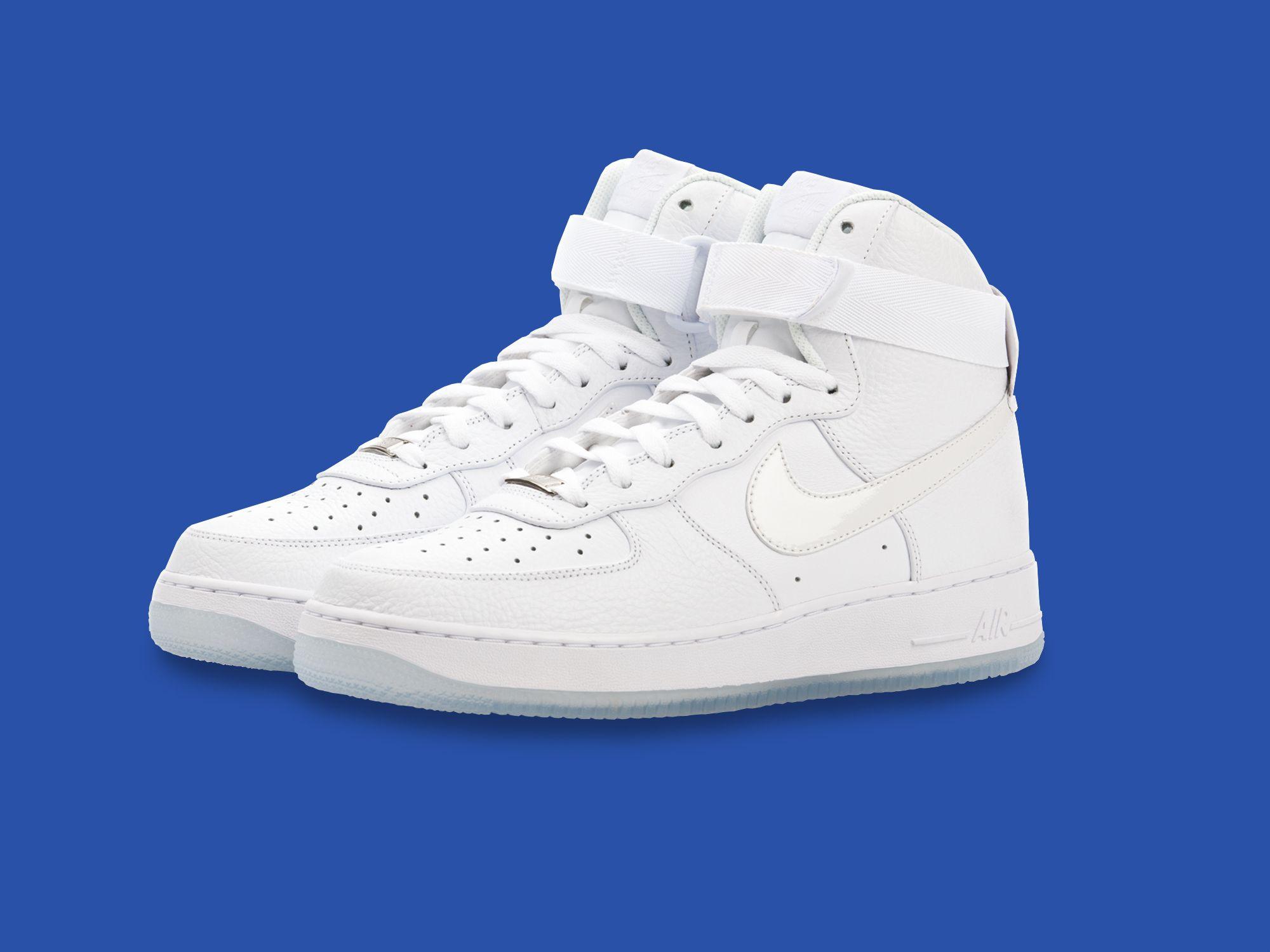 nike air force all white high tops