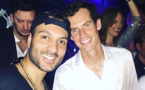 Murray with DJ Lohrasp Kansara