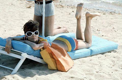 Audrey Hepburn bikini 1966 | ELLE UK