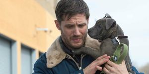 Tom Hardy with dog