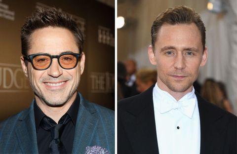 Tom Hiddleston Robert Downey Jr