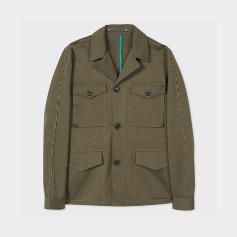 4802f10f56a The investment piece  Khaki cotton and linen-blend Field Jacket by Paul  Smith