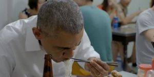 Obama noodles vietnam