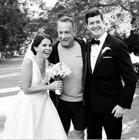 Tom Hanks wedding photo bomb