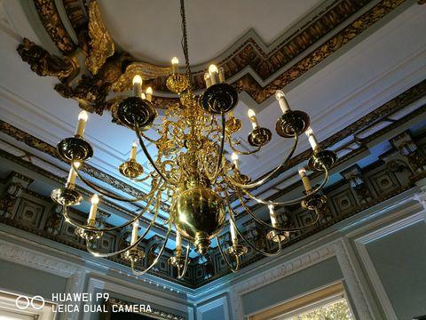 Ceiling fixture, Lighting, Interior design, Yellow, Chandelier, Light fixture, Ceiling, Interior design, Glass, Lighting accessory,