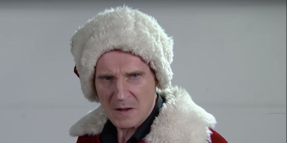 Watch Liam Neeson Audition For The Role Of Santa Claus (And Terrify A Generation Of Children In The Process)