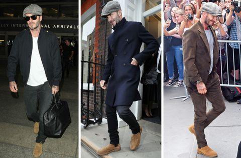 David Beckham and his hat