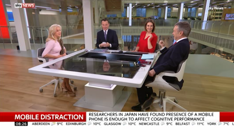 Eamonn Holmes Pranks Sky News Colleague By Texting Him Live On Air