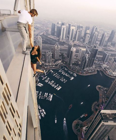 Model Hangs Unharnessed From 1,000 Ft In Depressing Attempt