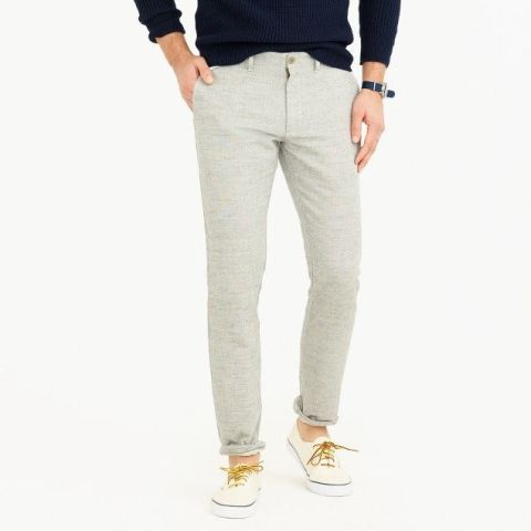 Cotton Linen chinos J Crew