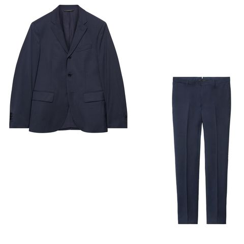 Clothing, Suit, Outerwear, Blazer, Formal wear, Trousers, Jacket, Sleeve, Pocket, Tuxedo,