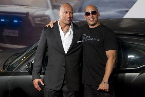 Dwayne Johnson, Vin Diesel feud, pictured in 2011