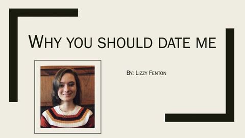 this woman asked a man out with a powerpoint presentation