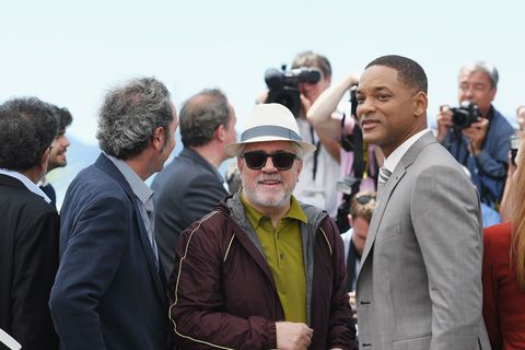 Pedro Almodovar and Will Smith at the 2017 Cannes Film Festival, disagree on Netflix