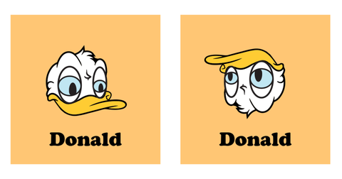 donald trump is donald duck
