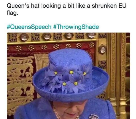 Queen's speech tweets