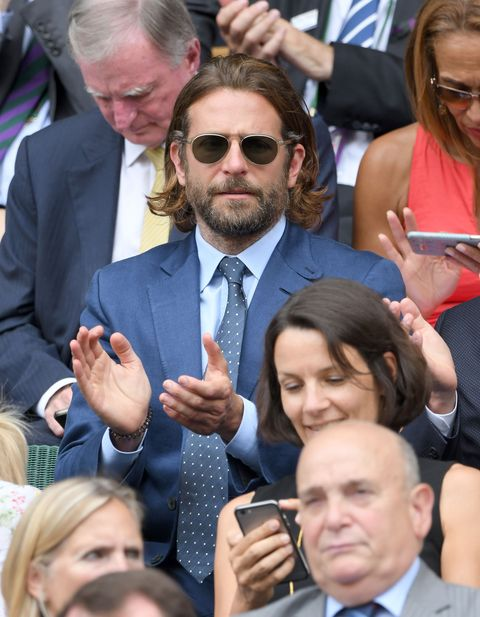 LONDON, ENGLAND - JULY 16:  Bradley Cooper attends day 13 of Wimbledon 2017 on July 16, 2017 in London, England.  (Photo by Karwai Tang/WireImage)