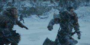 Game of Thrones episode 6 trailer grab - Tormund and Jon Snow