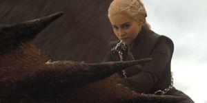 Emilia Clarke as Daenerys Targaryen, Drogon, Game of Thrones, GOT, Season 7, episode 4