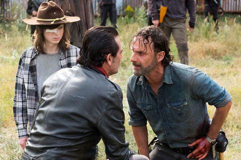 Carl Grimes, Negan, Rick Grimes, The Walking Dead, TWD